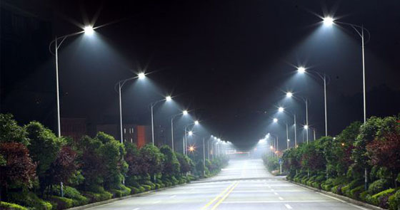 Urban road led lighting project